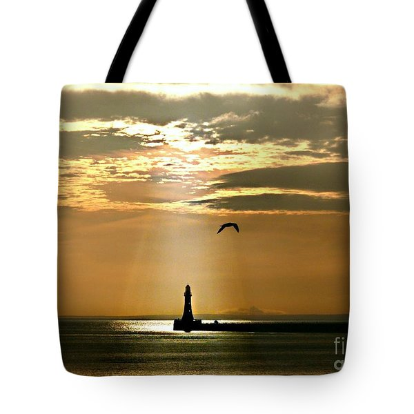 Tote Bag featuring the photograph Roker Pier Sunderland by Morag Bates
