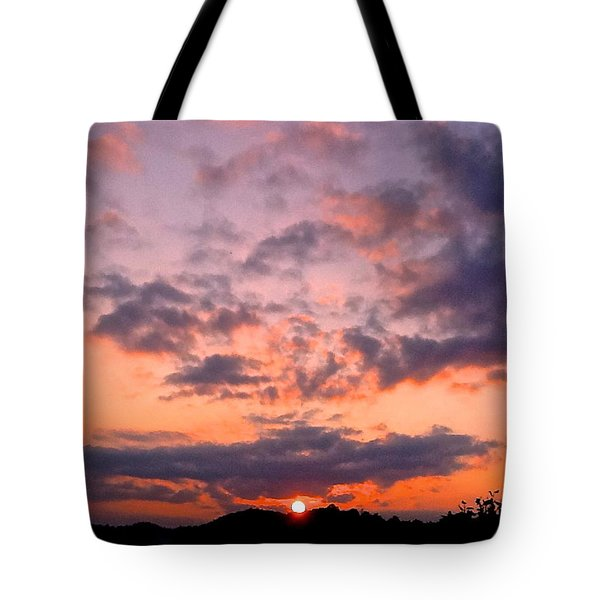 A New Day Begins Tote Bag by Rita Mueller