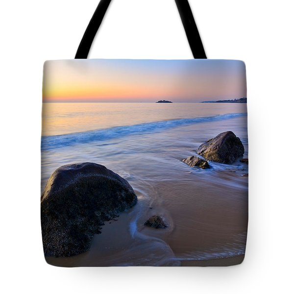 Tote Bag featuring the photograph A New Day Singing Beach by Michael Hubley