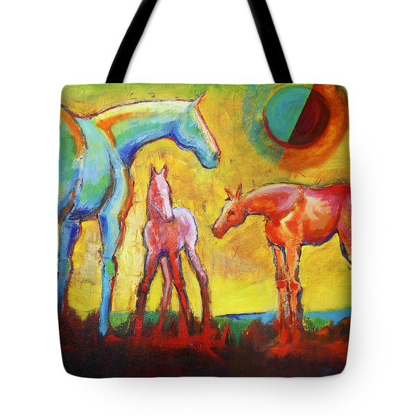 A New Day With Horses Tote Bag