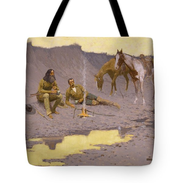 A New Year On The Cimarron Tote Bag by Fredrick Remington
