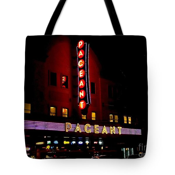 A Night At The Pageant Tote Bag