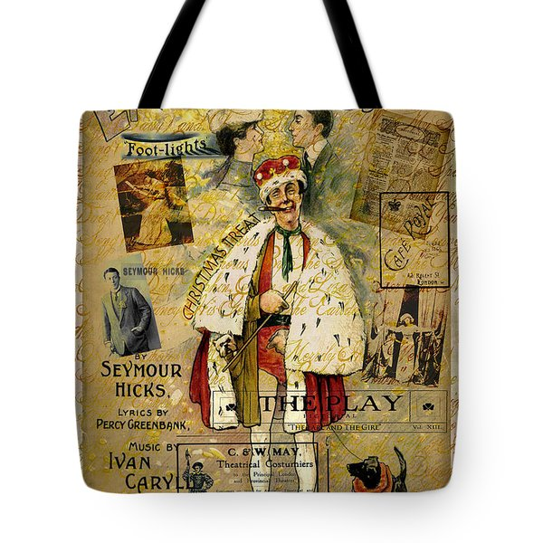A Night On The Town Christmas Treat Tote Bag by Sarah Vernon