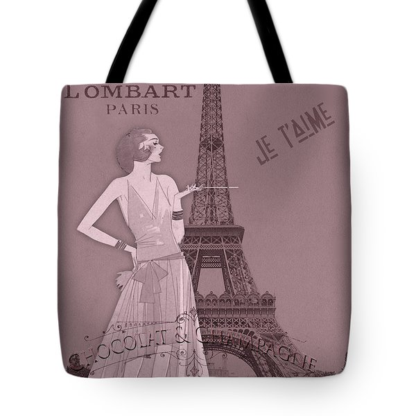 A Night To Remember Valentine Tote Bag by Sarah Vernon