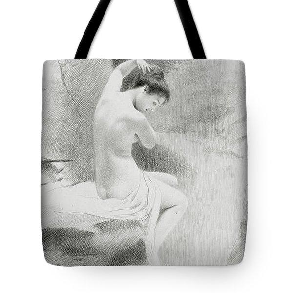 A Nymph Tote Bag by Charles Prosper Sainton