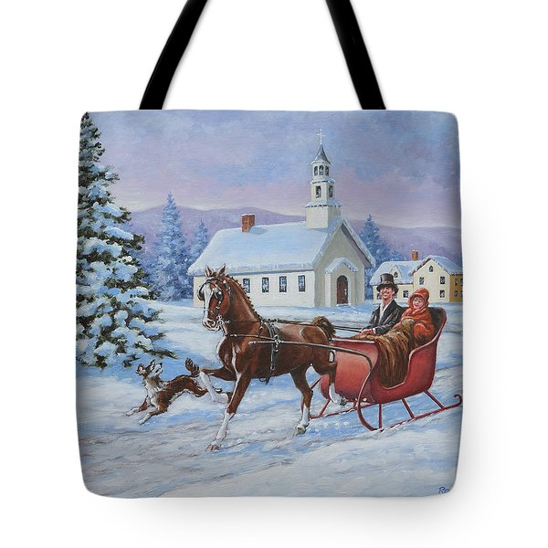 A One Horse Open Sleigh Tote Bag