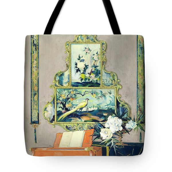 A Painting Of A House Interior Tote Bag