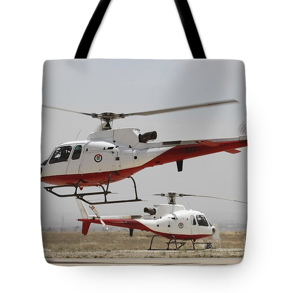 A Pair Of As350 Squirrel Helicopters Tote Bag by Ofer Zidon