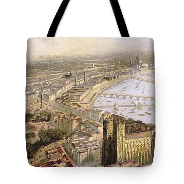A Panoramic View Of London Tote Bag by English School