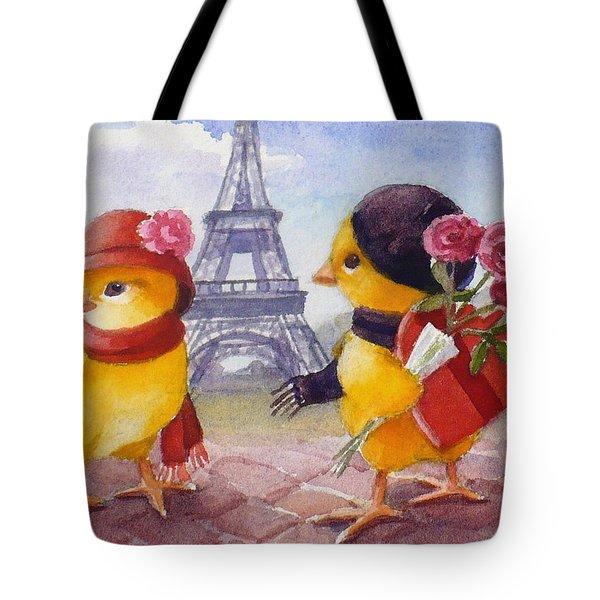 A Paris Valentine Tote Bag