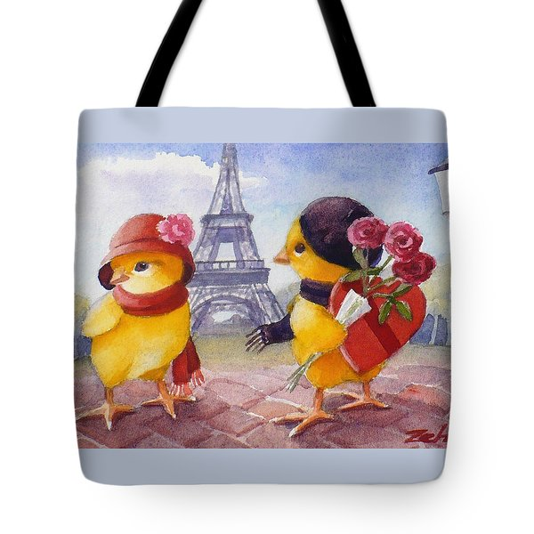 A Paris Valentine Tote Bag