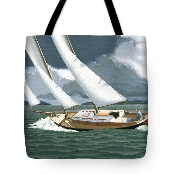 A Passing Squall Tote Bag by Gary Giacomelli