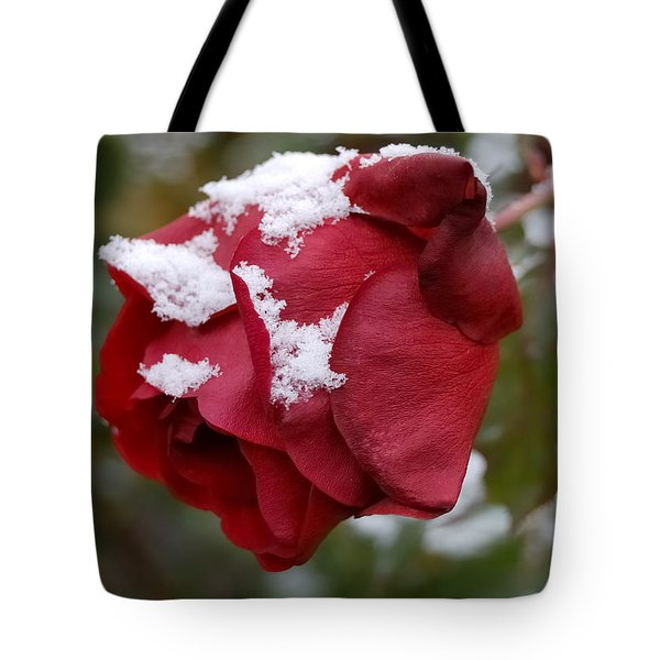 A Passing Unrequited - Rose In Winter Tote Bag