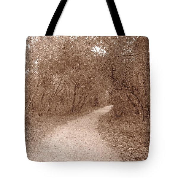 Tote Bag featuring the photograph A Path In Life by Beth Vincent