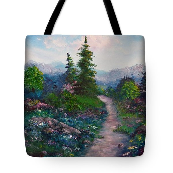A Path Unknown Tote Bag by Megan Walsh