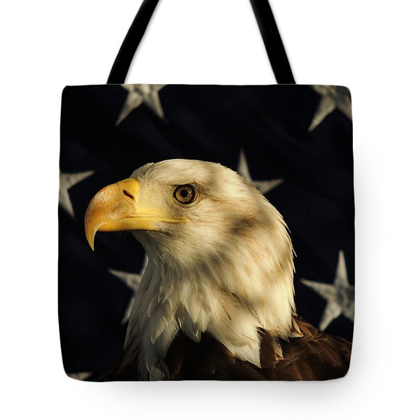 Tote Bag featuring the photograph A Patriot by Raymond Salani III