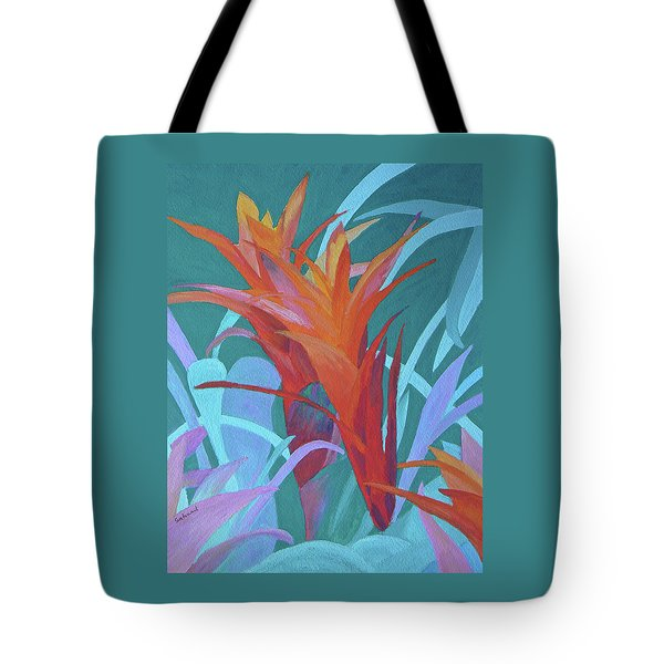 A Pattern Of Bromeliads Tote Bag