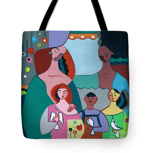 A Peaceful World For Our Children Tote Bag by Elisabeta Hermann