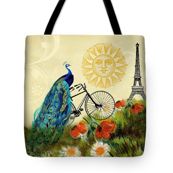 A Peacock In Paris Tote Bag