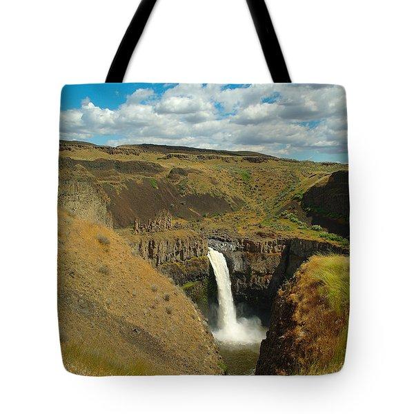 A Peak Of Palouse Falls Tote Bag by Jeff Swan