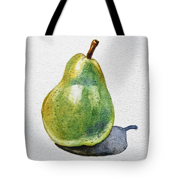 A Pear Tote Bag by Irina Sztukowski