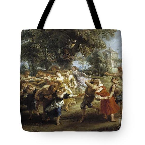 A Peasant Dance Tote Bag