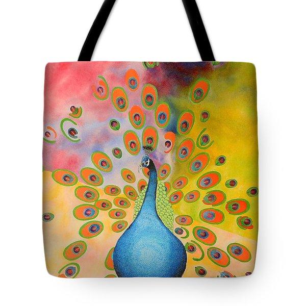A Peculiar Peacock Tote Bag by Thomas Gronowski