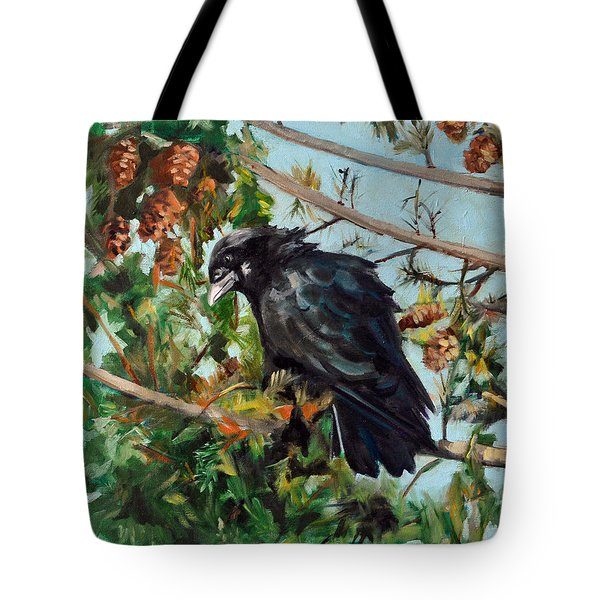 A Perch For Nevermore Tote Bag