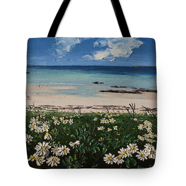 A Perfect Day At Coral Strand Connemara Ireland Tote Bag by Diana Shephard