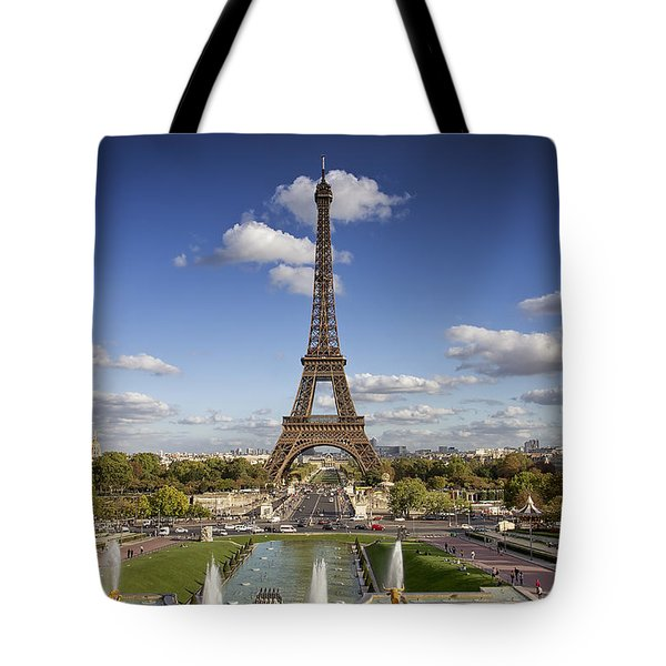 A Perfect Day In Paris Tote Bag by Kim Andelkovic