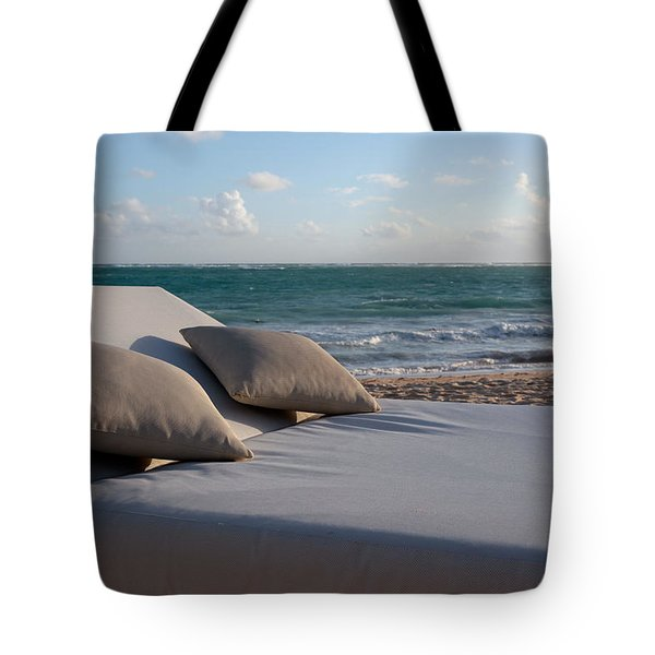 Tote Bag featuring the photograph A Perfect Day On The Beach by Karen Lee Ensley
