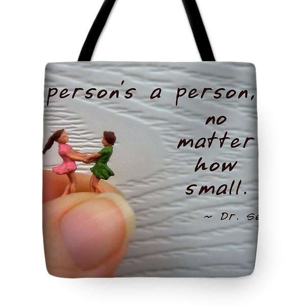 A Person . . . Tote Bag by Renee Trenholm