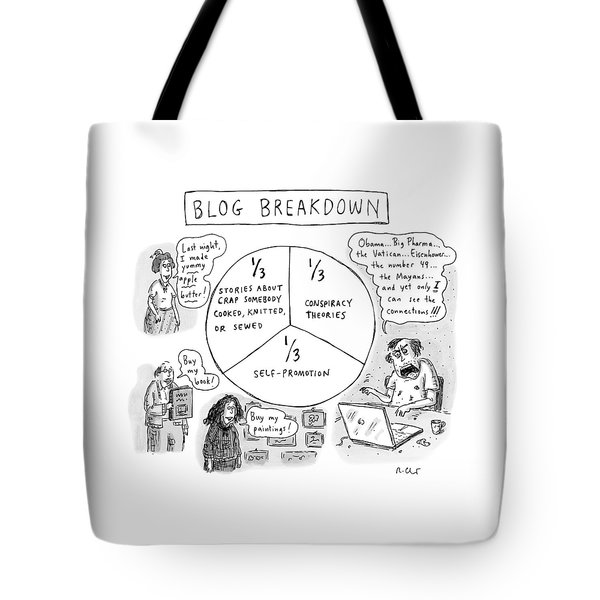 A Pie Chart Titled Blog Breakdown Is Divided Tote Bag