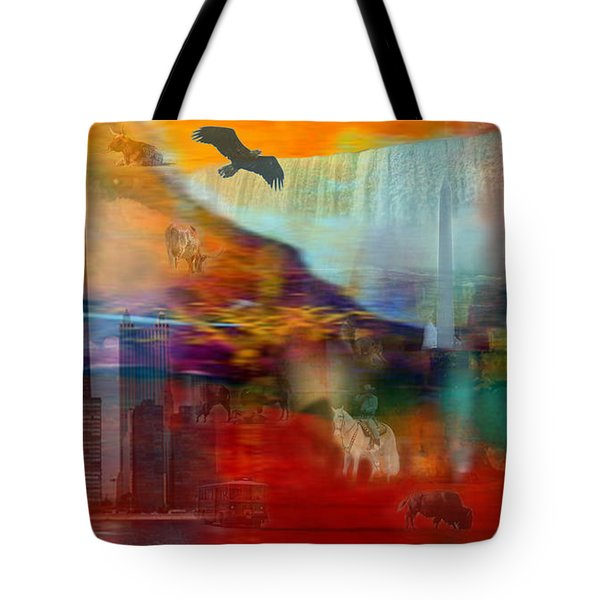 A Piece Of America Tote Bag