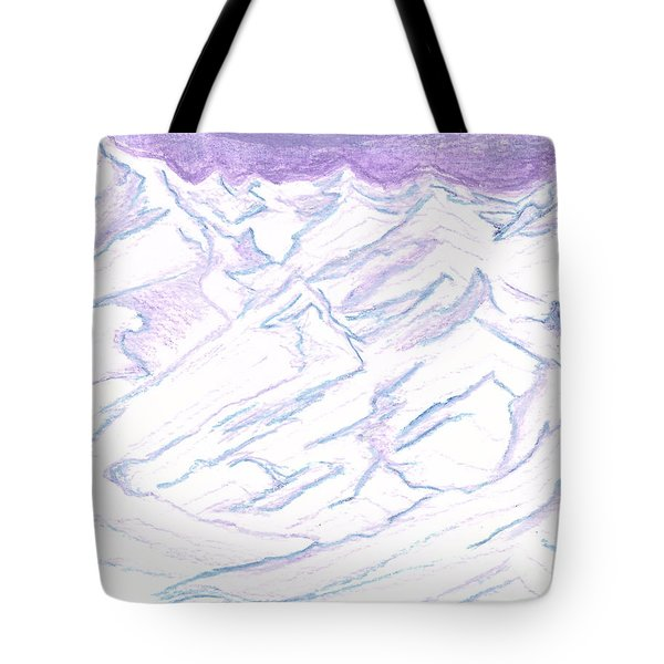 A Piece Of The Alaskan Range Tote Bag by Heather  Hiland