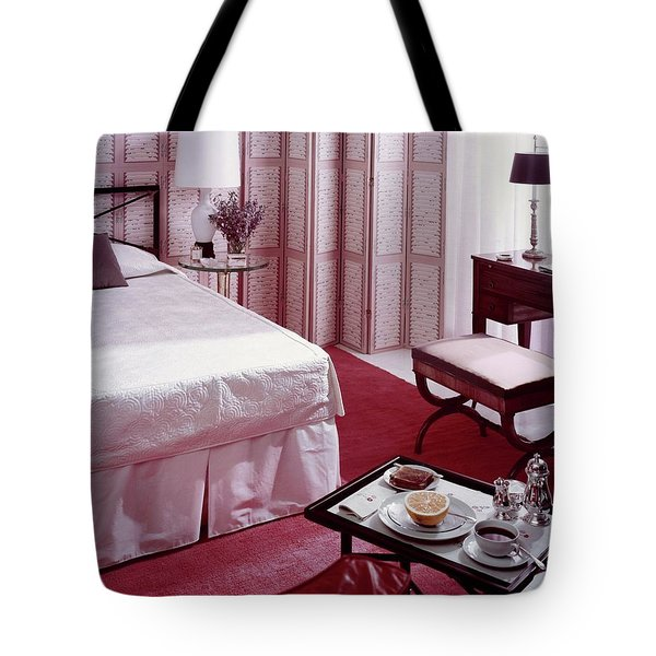 A Pink Bedroom Tote Bag