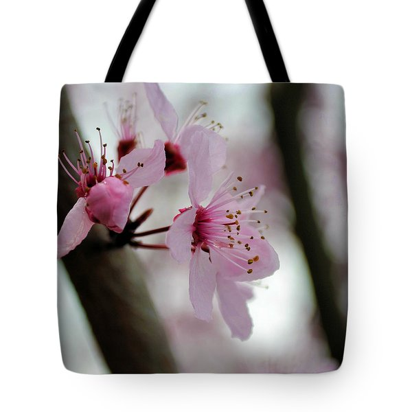 A Pink Flowering Tree Flower Tote Bag