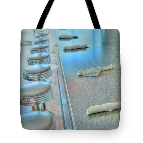 A Place To Eat Tote Bag by Kathleen Struckle