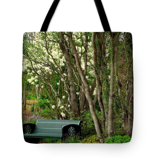 Tote Bag featuring the photograph A Place To Sit by Rodney Lee Williams
