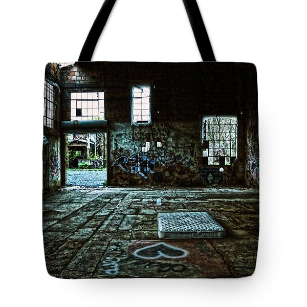 Tote Bag featuring the photograph A Place With Heart by Debra Fedchin