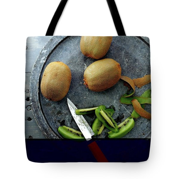A Plate Of Kiwifuit Tote Bag