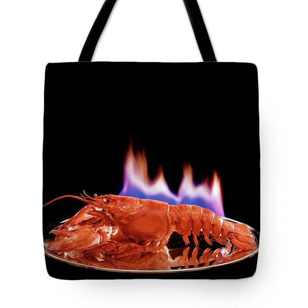 A Plate Of Lobster Flambe Tote Bag