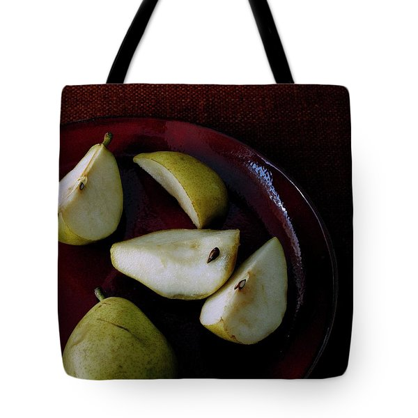 A Plate Of Pears Tote Bag
