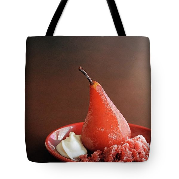A Poached Pear Tote Bag