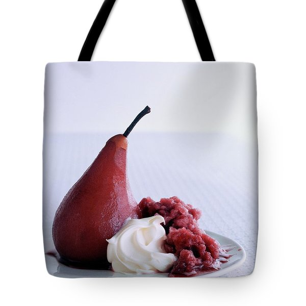 A Poached Pear With Cream Tote Bag