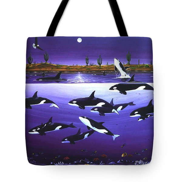 A Pod Of Desert Orcas Tote Bag by Lance Headlee