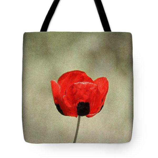 A Pop Of Red And Black Tote Bag by Kim Hojnacki