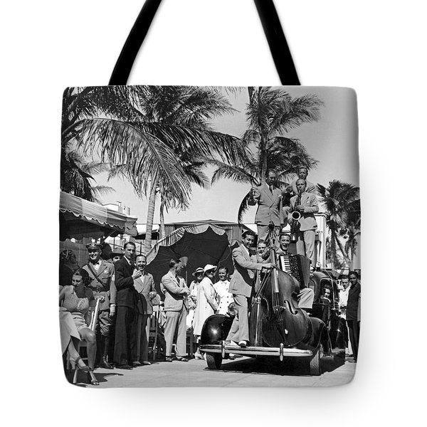 A Portable Jazz Band In Miami Tote Bag