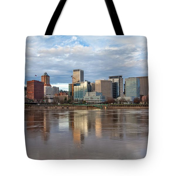 A Portland Morning Tote Bag