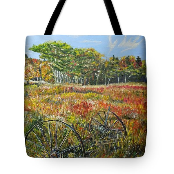Tote Bag featuring the painting A Prairie Treasure by Marilyn  McNish